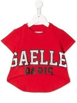Gaelle Paris Kids logo T-shirt - Red