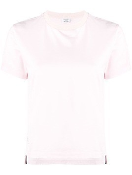 Thom Browne short-sleeve logo-patch T-shirt - PINK