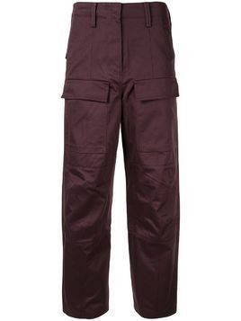 System straight-leg cargo trousers - Red
