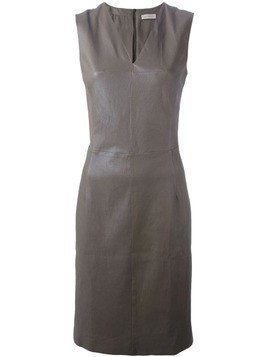 Maison Ullens fitted lambskin dress - Brown