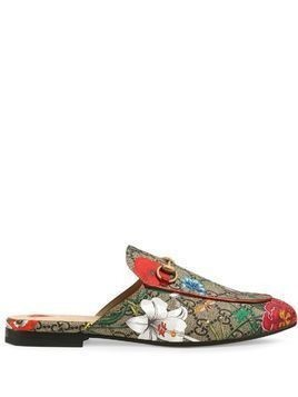 Gucci Princetown GG Flora print slippers - Grey