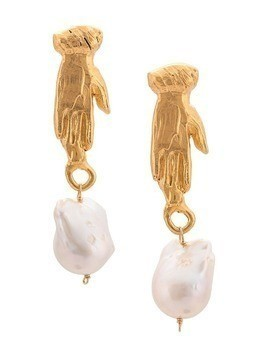 Alighieri 18kt yellow gold The Curator of the Moon earrings