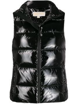 Michael Michael Kors high-shine down gilet - Black