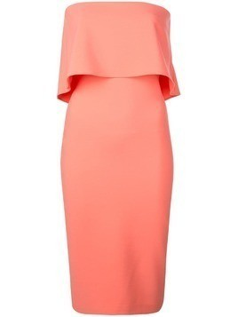Likely off-shoulder draped detail dress - Pink