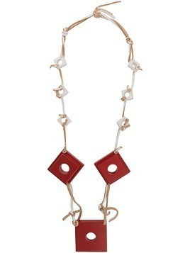 Corto Moltedo square charms necklace - Red
