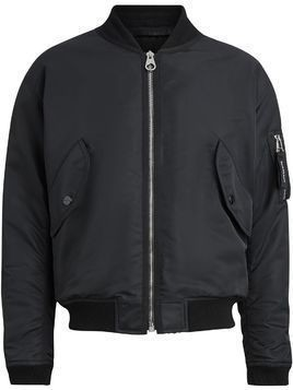 Burberry Nylon Bomber Jacket - Black