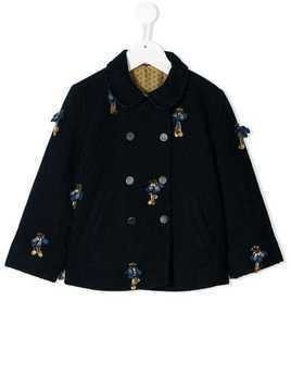 Pero Kids reversible double breasted coat - Blue
