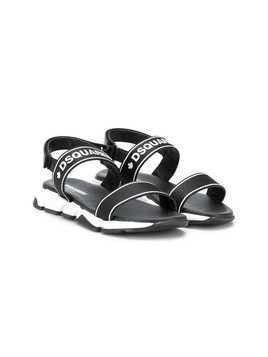 Dsquared2 Kids logo strap sandals - Black