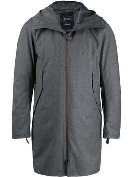 Herno hooded zip-up padded coat - Grey