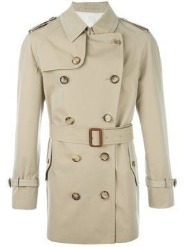 Alexander McQueen - buttoned short trench coat - Herren - Cotton/Viscose - 56 - Nude & Neutrals
