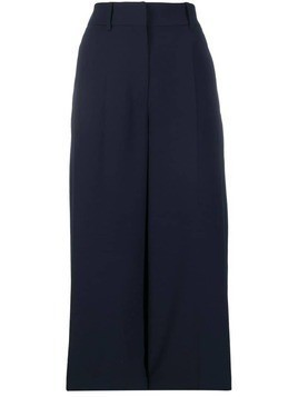 Coliac high-waisted flared trousers - Blue
