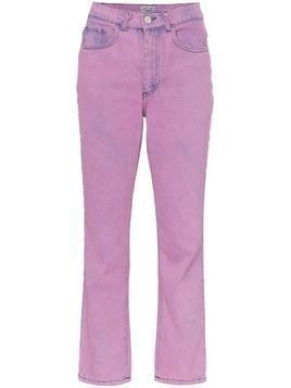 Ashley Williams Ashley acid wash cropped jeans - Purple