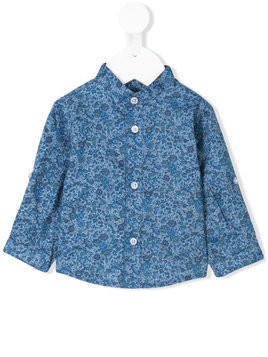 Cashmirino - Floral print shirt - Kinder - Cotton - 18 mth - Blue