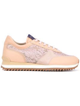 Le Silla lace panel trainers - Neutrals