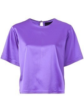 Cynthia Rowley Rush stretch satin T-shirt - Purple