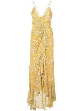 Jay Godfrey paisley print dress - Yellow
