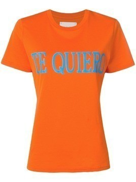 Alberta Ferretti Te Quiero T-shirt - Orange