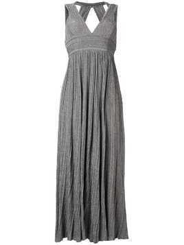 Antonino Valenti v-neck knitted long dress - Grey