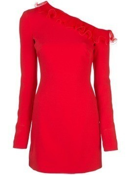 David Koma ruffle trim dress - Red