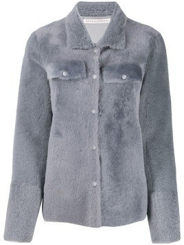 Inès & Maréchal shearling fitted jacket - Grey