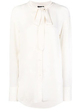 Theory Weekender tie-neck shirt - White