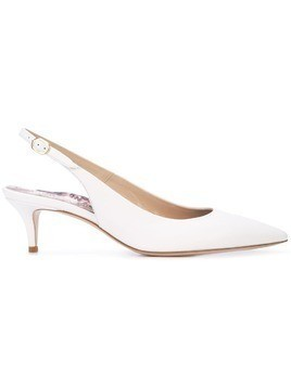 Marion Parke slingback leather pumps - White