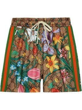 Gucci GG Flora print shorts - Green