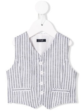 Il Gufo fitted striped waistcoat - Grey