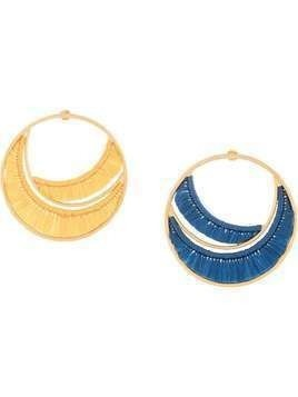 Katerina Makriyianni Sunrise mismatched hoop earrings - Blue