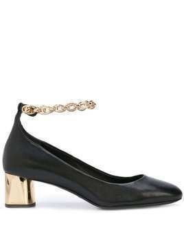 Stella Luna chain strap pumps - Black