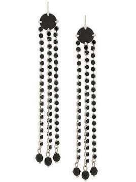 Miu Miu crystal drop earrings - Black