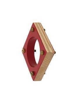 Corto Moltedo square bangle - Red