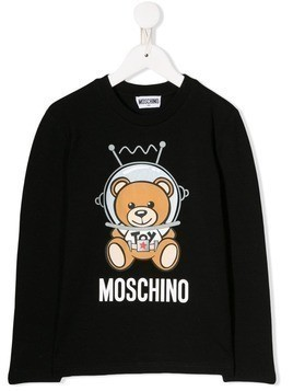 Moschino Kids printed Teddy Bear sweatshirt - White