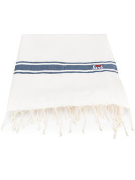 Mc2 Saint Barth Kids stripe beach towel - White