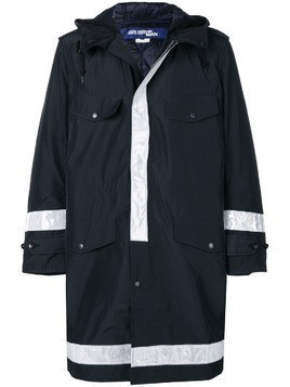 Junya Watanabe MAN hooded midi raincoat - Black