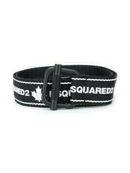 Dsquared2 Kids logo-pattern belt - Black
