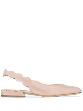 Chloé Laurena scalloped slingback pumps - Pink