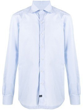 Fay plain formal shirt - Blue