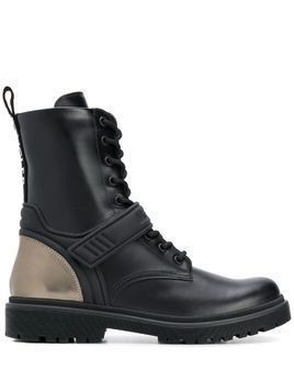 Moncler Calypso lace-up combat boots - Black