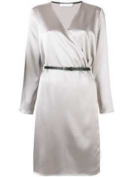 Jean Paul Knott wrap belted dress - Neutrals