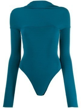 Alexandre Vauthier twisted back fitted body - Blue