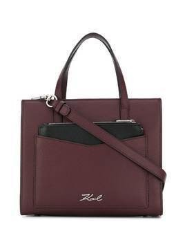 Karl Lagerfeld small K/Pocket tote - Red