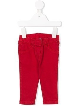 Stella Mccartney Kids four pocket chino trousers - Red