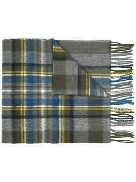 Begg & Co plaid wool scarf - Grey