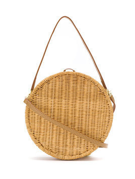 Serpui straw clutch - Brown