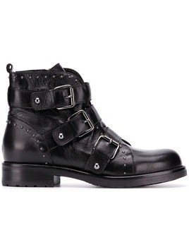 Albano buckled ankle boots - Black