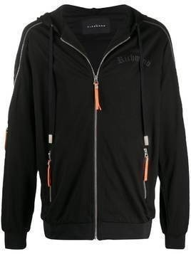 John Richmond Harriman zipped-sleeves hooded jacket - Black