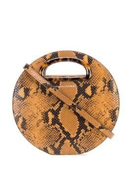 Loeffler Randall snakeskin embossed crossbody bag - Brown