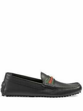 Gucci Interlocking G Web driving loafers - Black