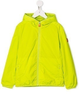 Save The Duck Kids zip up hooded jacket - Green
